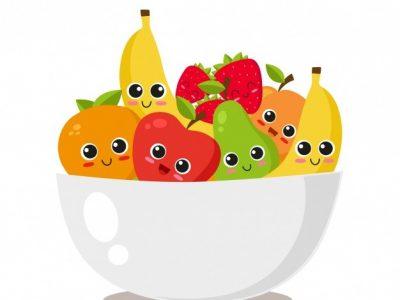 Fruit en spaaracties op school