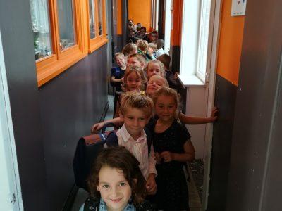 onze eerste schooldag!