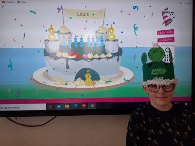 Louis is 8!